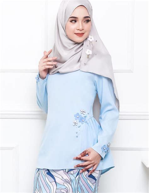 Baju Raya Baby Blue baju kurung moden pandora pucci baby blue lovelysuri