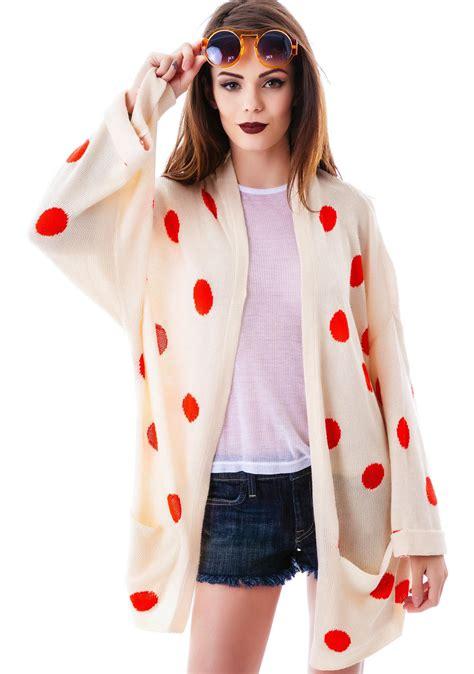 Polka Cardi wildfox couture polka dots slouch cardi dolls kill
