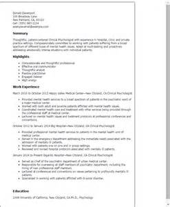 psychology major resume sle sainde org