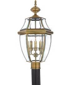 Post Light Fixtures Quoizel Newbury 3 Light Outdoor Post L Capitol Lighting 1 800lighting
