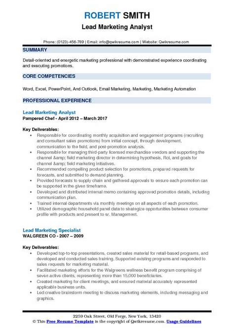 material analyst resume resume ideas