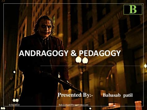 Andragogy Learning Theory Mba by Andragogy Pedagogy Ppt Of Human Resource Management