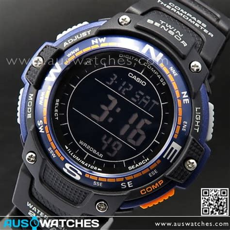 Sgw 100 2bdr Casio Sportsgear Series Buy Casio Protrek Compass Thermometer 200m Sgw 100
