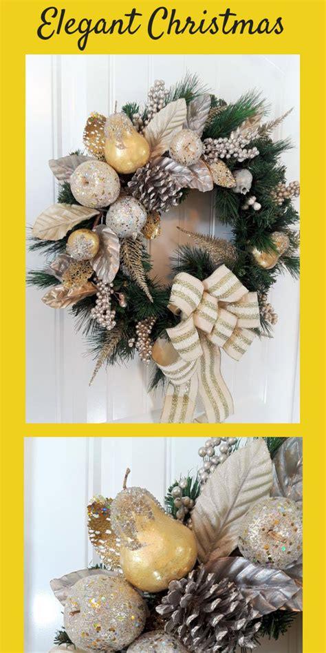 elegant christmas wreath  front door   door