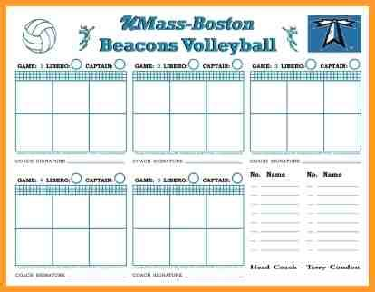 volleyball lineup printable volleyball lineup sheets printable letter format mail