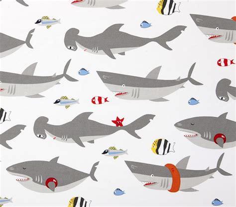 Shark Crib Sheets by Shark Sheet Set Pottery Barn