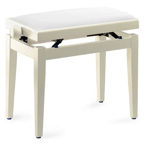 white piano bench stagg pb39 piano bench ivory white velvet top keymusic