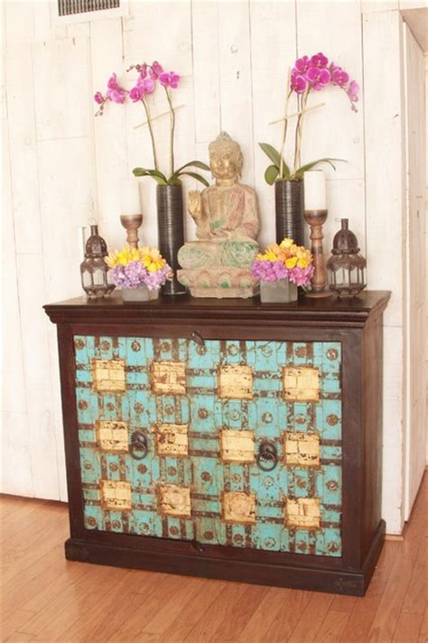 Indian Cabinet by Indian Cabinet Made Out Of Antique Doors Eclectic Los