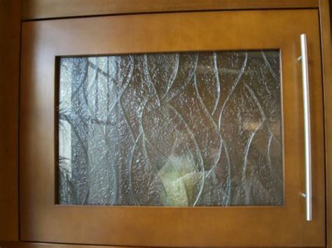 Textured Glass Cabinet Doors Carved And Textured Glass For Cabinet Door Inserts Artistry In Glass