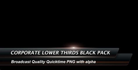 Corporate Lower Thirds Black Pack Motion Graphics Videohive 145590 Lower Third Templates Photoshop