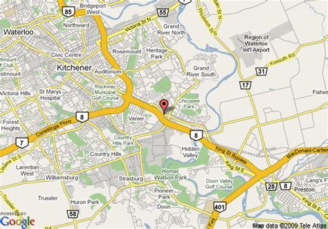 map of comfort inn kitchener kitchener