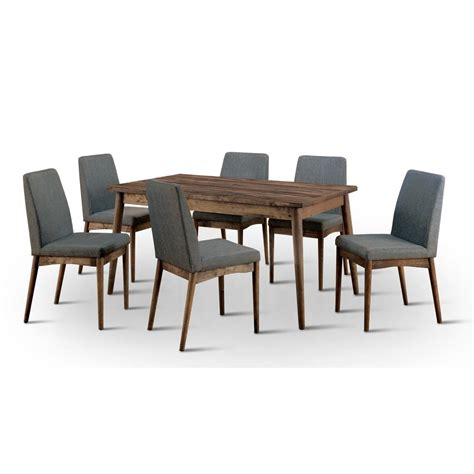 furniture of america nerlim 7 tone dining