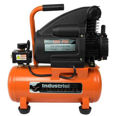 industrial air 3 gal 1 5 hp portable electric air compressor c032i the home depot