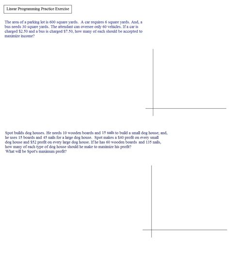 Linear Programming Worksheet With Answers by Linear Programming Worksheet Abitlikethis