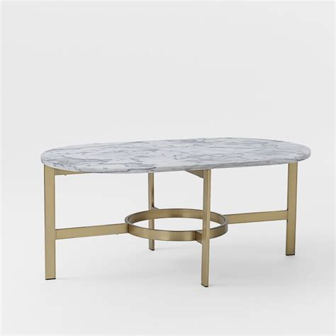 coffee table marble oval coffee table west elm mid