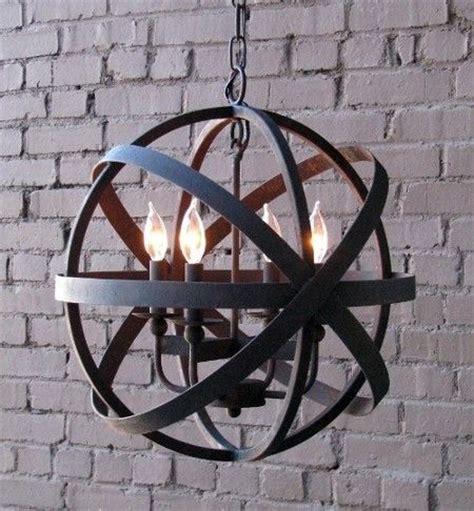 iron sphere light fixture lemonde black sphere chandelier small