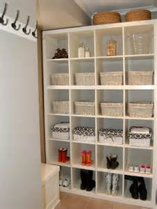 laundry room storage ideas using ikea expedit or kallax
