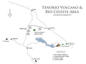 celeste map tenorio volcano and celeste costa rica hotels