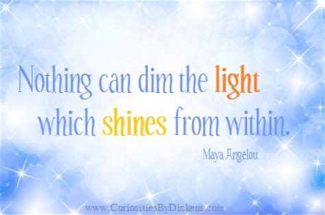 Nothing Can Dim The Light That Shines From Within by Beth Allen Conscious Choices Wellness