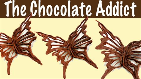 Chocolate Butterfly Decorations by Chocolate Decorations How To Make A Chocolate Butterfly