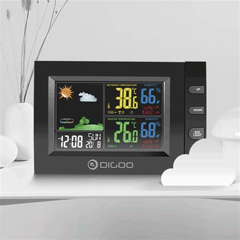 dg color digoo dg th8530 color screen weather station usb charge