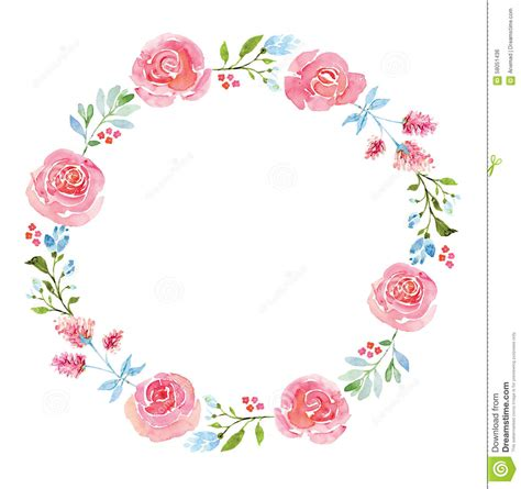 Bordir Flower 169992 Set 3 In 1 Quality Semiori 1 beautiful flower watercolor wreath from 62