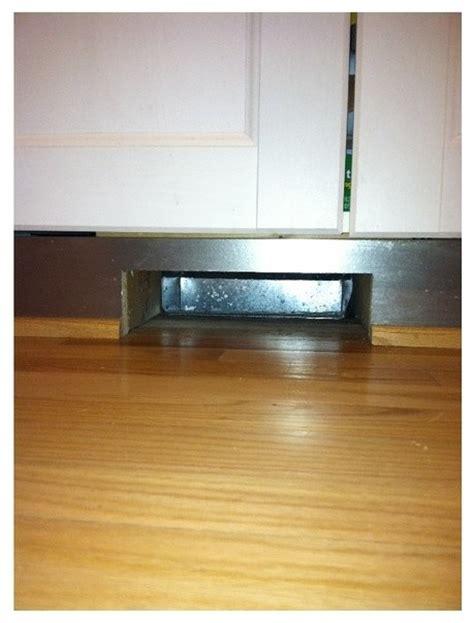 under cabinet toe kick ducting kit toe kick vent cover issue