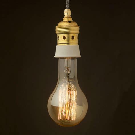 Pendant Lighting Edison Edison Style Light Bulb And E40 Brass And Ceramic Pendant