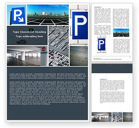 Parking Lot Word Template 04727 Poweredtemplate Com No Parking Template Word