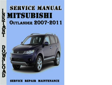 mitsubishi outlander 2007 2011 service repair manual pdf