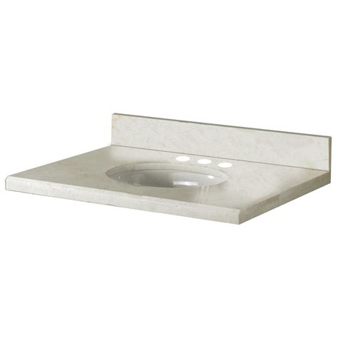 Crema Marfil Vanity Top by Pegasus 31 Inch W X 22 Inch D Marble Vanity Top In Crema