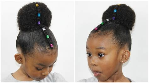 Cute Natural Hairstyle For Girls   Cornrow