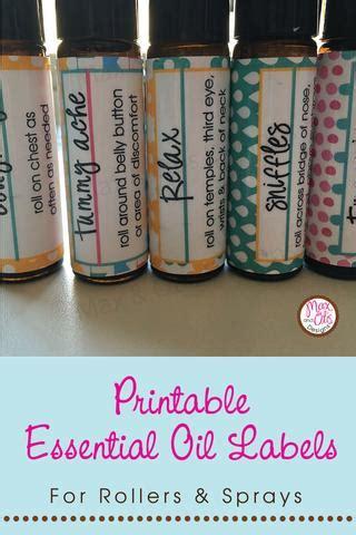 printable essential oil roller labels max otis designs