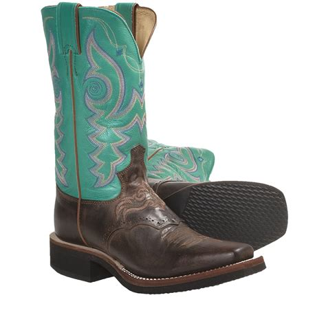 the gallery for gt womens cowboy boots square toe