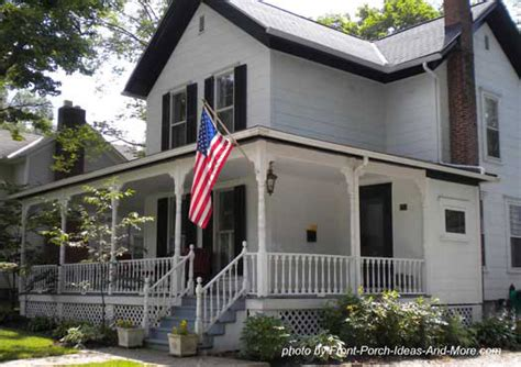 Colonial House With Farmers Porch by Country Home Designs Country Porch Plans Country Style