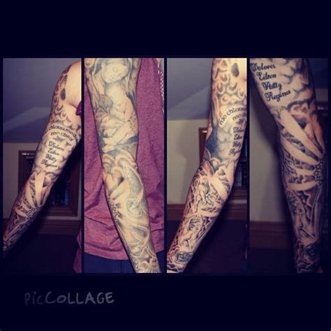 religious tattoo sleeve tatto pinterest sleeve