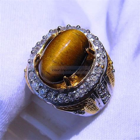 Akik Tiger Eye batu cincin tiger eye akik pilihan terbaik