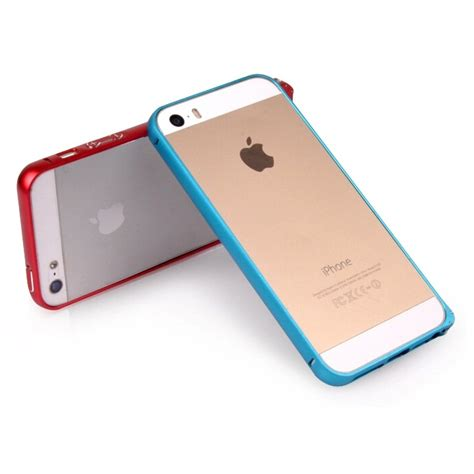 Iphone 5 5s Tosca ultra thin aluminium metal curve bumper single color