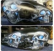 Motorcycle Tank Airbrush Art  Creative Impulse