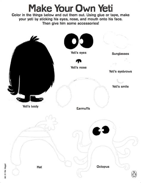 printable yeti mask 108 best images about printable activities on pinterest
