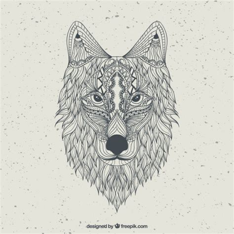 abstract wolf coloring page hand drawn abstract wolf vector premium download