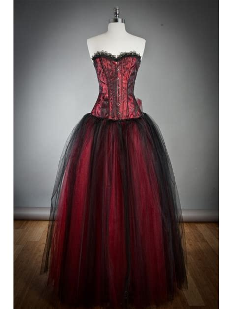 Wine Red Long Gothicrset Prom Dress Devilnight Uk