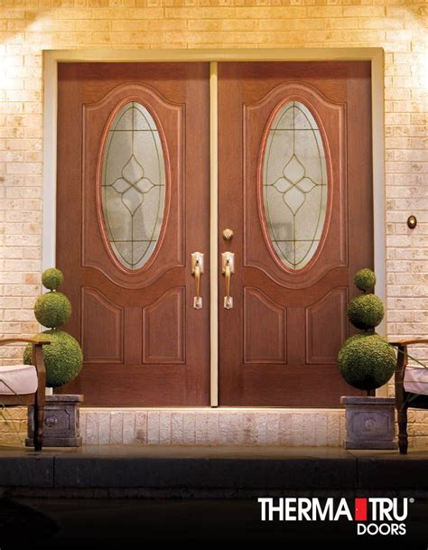 Therma Tru Fiber Classic Mahogany Collection Doors With Thermatru Exterior Doors