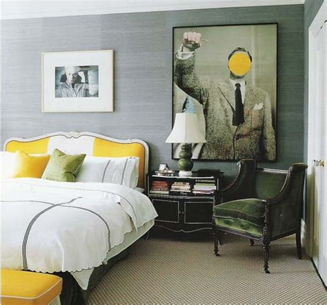 Grey And Yellow Bedrooms by David Dangerous Grey Grey And Yellow Grey Interiors