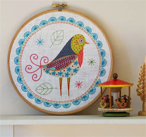 contemporary embroidery design joan nicholson birdie 1 embroidery kit by nancy nicholson