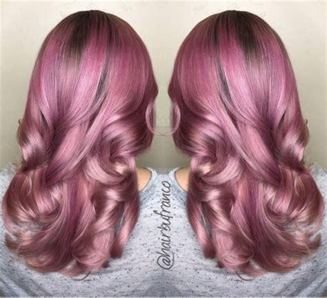 metallic hair color formula metallic pink satin hair color modern salon
