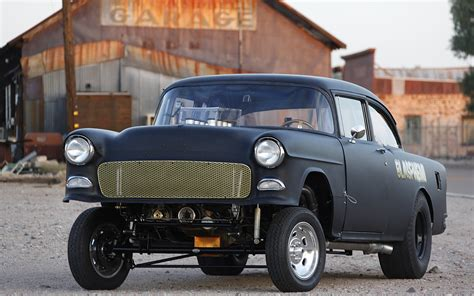 roadkill the quot blasphemi quot hemi 1955 chevy gasser