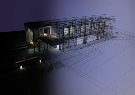 sketchup layout wireframe abvent 3d architecture design