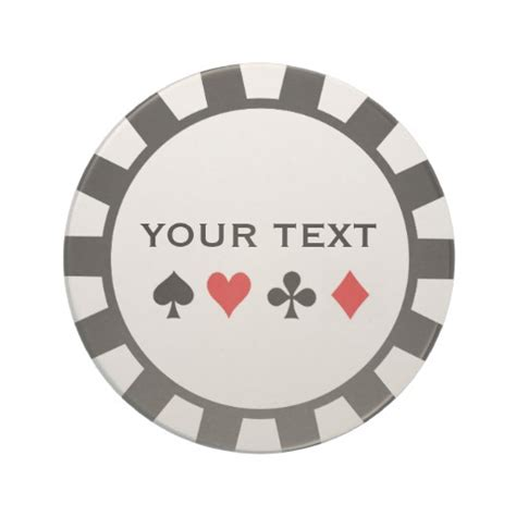 personalized poker chip coasters zazzle