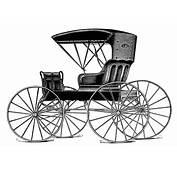 Horse Drawn Buggy  Free Vintage Clip Art Old Design